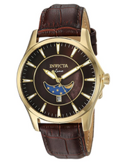 Invicta Men's 23129 Vintage Quartz 3 Hand Brown Dial Watch