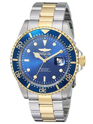 Invicta Men's 'Pro Diver' Quartz Stainless Steel Casual Watch, Color:Two Tone (Model: 22058) …