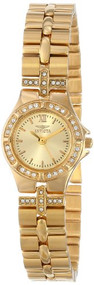 Invicta Women's 0134 Wildflower Collection 18k Gold-Plated Crystal Accented W...