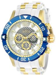 Invicta Men's 23706 Pro Diver Quartz Chronograph Silver Dial Watch