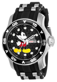 Invicta Men's 23763 Disney Quartz 3 Hand Black Dial Watch