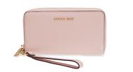 MICHAEL Michael Kors Women's Large Flat Phone Wristlet, Soft Pink, One Size