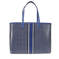 Tory Burch Gemini Link Canvas Tote Handbag in Jewel Blue Gemini Link Stripe