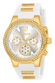 Invicta Women's 24199 BLU Quartz Chronograph Silver Dial Watch