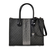 MICHAEL Michael Kors - Mercer Large Convertible Tote (Black) Tote Handbags