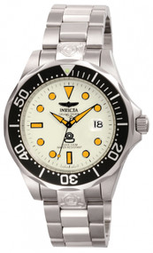 Invicta Men's 10640 Pro Diver Automatic 3 Hand White Dial Watch