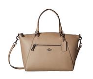 COACH Women's Polished Pebbled Leather Prairie Satchel Dk/Stone Handbag