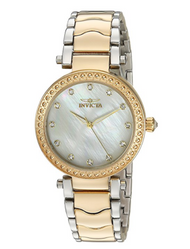 Invicta Women's 'Wildflower' Quartz Stainless Steel Casual Watch, Color:Two Tone (Model: 23965)