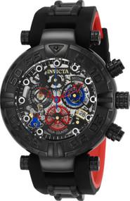 Invicta Men's 24514 Disney  Quartz Multifunction Black, Gunmetal, Silver Dial Watch