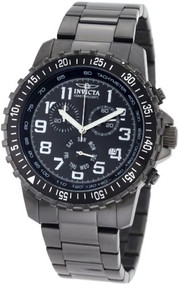 Invicta Men's 1328 Chronograph Black Dial Two-Tone Stainless-Steel Watch [Wat...
