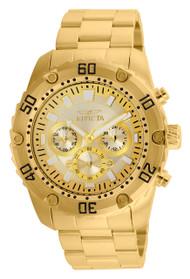 Invicta Men's 24835 Pro Diver Quartz Chronograph Gold Dial Watch