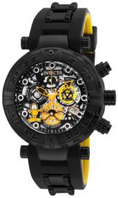 Invicta Men's 24880 Character Quartz 3 Hand Black, Gunmetal, Silver Dial Watch