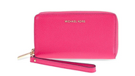 MICHAEL Michael Kors KORS STUDIO Large Flat Phone Case Wristlet Ultra Pink