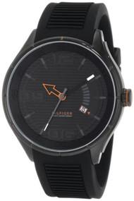 Tommy Hilfiger  Men's 1790803 Sport Black IP Black Silicon  Watch [Watch] Tom...