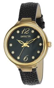 Invicta Women's 24561 Wildflower Quartz 3 Hand Black Dial Watch