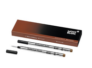Montblanc Rollerball Refills (M) Chestnut Brown 106930 / Quick-Drying Pen Refills for Montblanc Rollerball and Fineliner Pens / 2 x Light Brown Pen Cartridges …