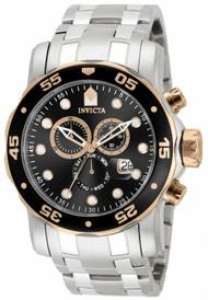 Invicta Men's 80036 Pro Diver Quartz Chronograph Black Dial Watch