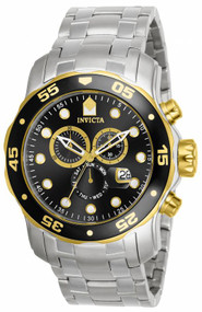 Invicta Men's 80039 Pro Diver Quartz Chronograph Black Dial Watch
