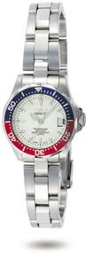 Invicta Women's 8940 Pro Diver Quartz 3 Hand Silver Dial Watch