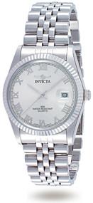Invicta Men's 9331 Specialty Quartz 3 Hand Silver Dial Watch