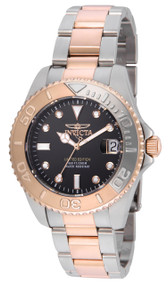 Invicta Women's 24634 Pro Diver Quartz 3 Hand Black Dial Watch