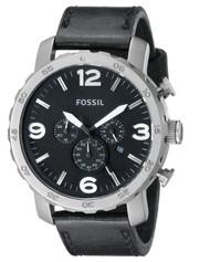 Fossil Herren-Armbanduhr XL Analog Quarz Leder TI1005