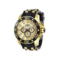 Invicta Men's 26088 Pro Diver Quartz Chronograph Gold Dial Watch