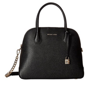 Michael Michael Kors Mercer Large Leather Dome Satchel, Black