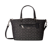 COACH Women's Signature Prairie Satchel Sv/Black Smoke/Black1 One Size 58875-SVDK6
