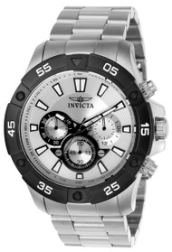 Invicta Men's 22788 Pro Diver Quartz Multifunction Silver Dial Watch