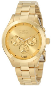 Invicta Women's 12466 Angel Gold Tone Dial Gold Ion-Plated Stainless Steel Wa...