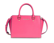 Michael Kors Selma Medium Leather Satchel - Ultra Pink  30S3GLMS2L-564