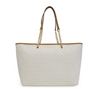 Michael Kors Jet Set Travel Chain Signature Tz Tote Vanilla  30S7GJ8T2V-150