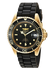 Invicta Men's 'Pro Diver' Automatic Gold-Tone and Stainless Steel Casual Watch, Color:Black (Model: 23681) …