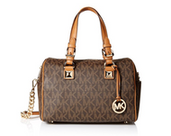 Michael Kors Grayson Medium Chain Signature Satchel (Brown / Acorn) 35F7GGYS2B-847