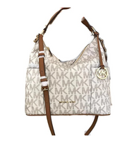 Michael Kors Anita Large Convertible Shoulder Bag (Vanilla) 35H7GA8L7B-150