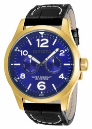Invicta Men's 12173 Specialty Quartz 3 Hand Blue Dial Watch