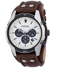 Fossil Coachman Chronograph Brown Leather Watch Ch2890