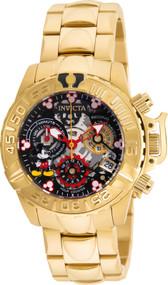 Invicta Women's 24507 Disney Quartz Multifunction Black, Gunmetal, Silver Dial Watch