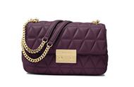 MICHAEL Michael Kors Sloan Large Quilted-Leather Shoulder Bag in Damson 30S7GSLL3L-599