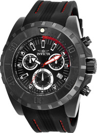 Invicta 25739 Character Chronograph Black Dial Watch