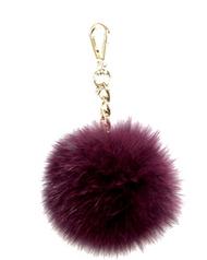Michael Kors Medium Fur Pom Pom Charm Keychain FOB ( Plum) 35F7GKCK6F-535