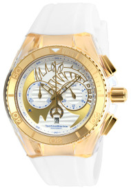 Technomarine Unisex TM-115002 Cruise Dream Quartz Chronograph Gold, Antique Silver Dial Watch
