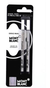 Mont Blanc 107873 Fineliner / Felt Tip Black Refill - Set of 2