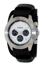 Fossil Men's Retro Traveler CH2856 White Leather Quartz Watch [Watch] Fossil