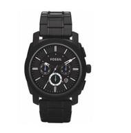 Fossil Men's FS4552 Black Stainless Steel Bracelet Black Analog Dial Chronogr...