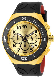 TechnoMarine Men's TM-215067 Manta Ocean Quartz Chronograph Gold, Gunmetal Dial Watch