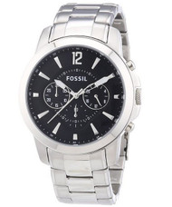 Fossil Men's FS4532 Stainless Steel Bracelet Black Analog Dial Chronograph Watch