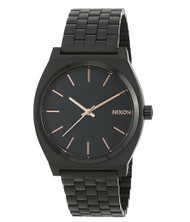 Nixon Time Teller Watch - All Black / Rose Gold …