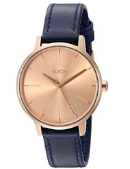 Nixon Women's A1082160-00 Kensington Leather Analog Display Japanese Quartz Blue Watch …